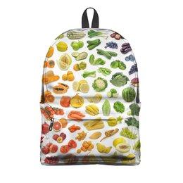 """Рюкзак 3D """"полезная еда"""" - фрукты, веган, овощи"""