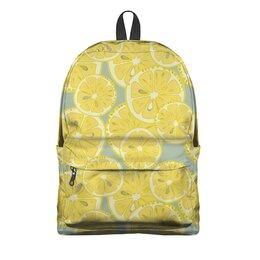 """Рюкзак 3D """"лимоны"""" - лето, фрукты, лимон, лимоны, цитрусовые"""