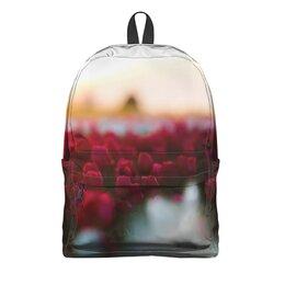 """Рюкзак 3D """"Тюльпаны"""" - цветы, природа, тюльпаны"""