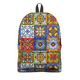 "Рюкзак 3D ""Mexican Design"" - узоры, орнамент, мексика, керамика, модникам"