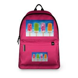"""Рюкзак 3D """"Эскимо. """" - еда, для девочек, мороженное, рюкзак"""