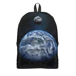 """Рюкзак 3D """"Earth and Moon"""" - планета, космос, земля, луна"""