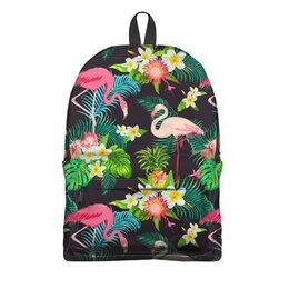 """Рюкзак 3D """"Flamingo"""" - пальма, тропики, фламинго, флора, модникам"""