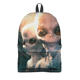"""Рюкзак 3D """"Aliens"""" - alien, инопланетяне, нло, пришелец"""