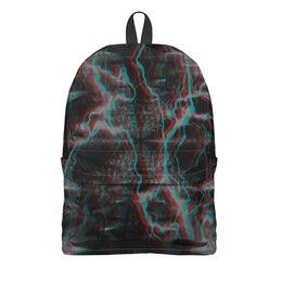 """Рюкзак 3D """"Молния"""" - узор, космос, краски, абстракция, молния"""