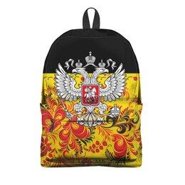"""Рюкзак 3D """"Россия"""" - цветы, русский, россия, герб, орел"""