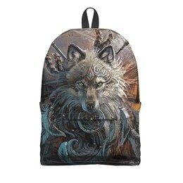 """Рюкзак 3D """"ВОЛКИ ФЭНТЕЗИ"""" - животные, стиль, магия, тотем, арт фэнтези"""