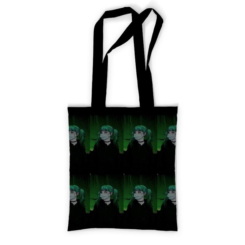 Printio Девочка аниме сумка с полной запечаткой printio девочка с персиками