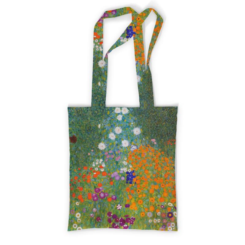 Сумка с полной запечаткой Printio Цветочный сад (густав климт) женская сумка шопер с принтом коричневая коллекция elole design поцелуй густав климт нат кожа