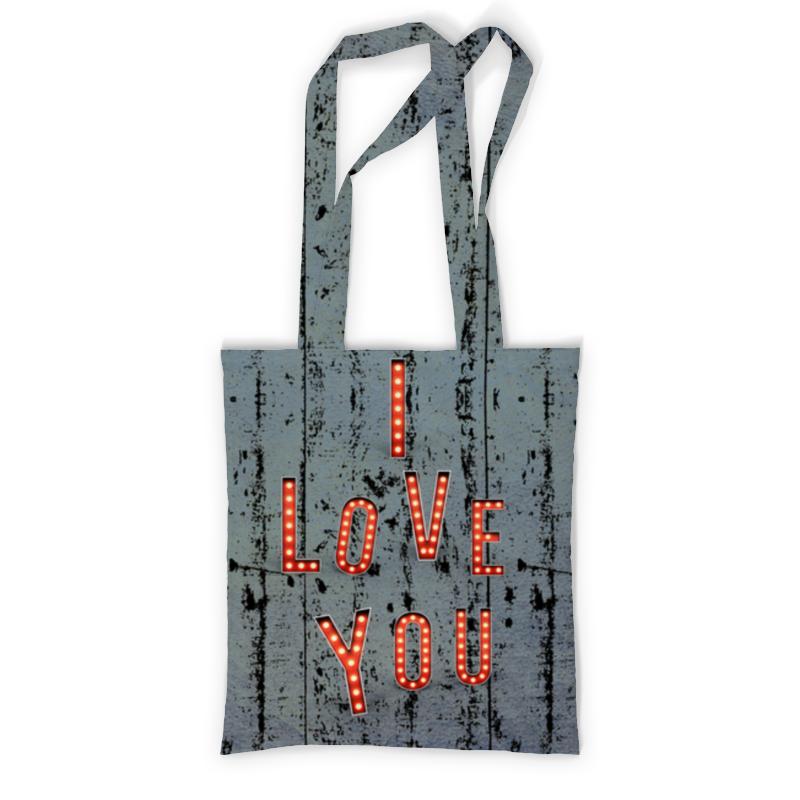 Сумка с полной запечаткой Printio I love you сумка с полной запечаткой printio любовь love