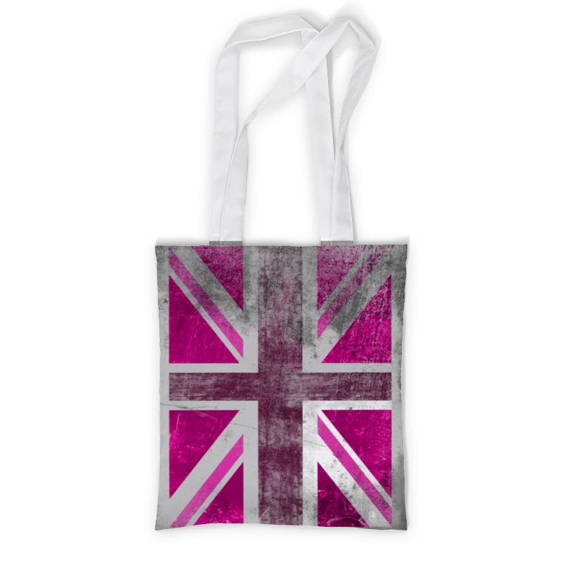 где купить Сумка с полной запечаткой Printio Розовый британский флаг дешево