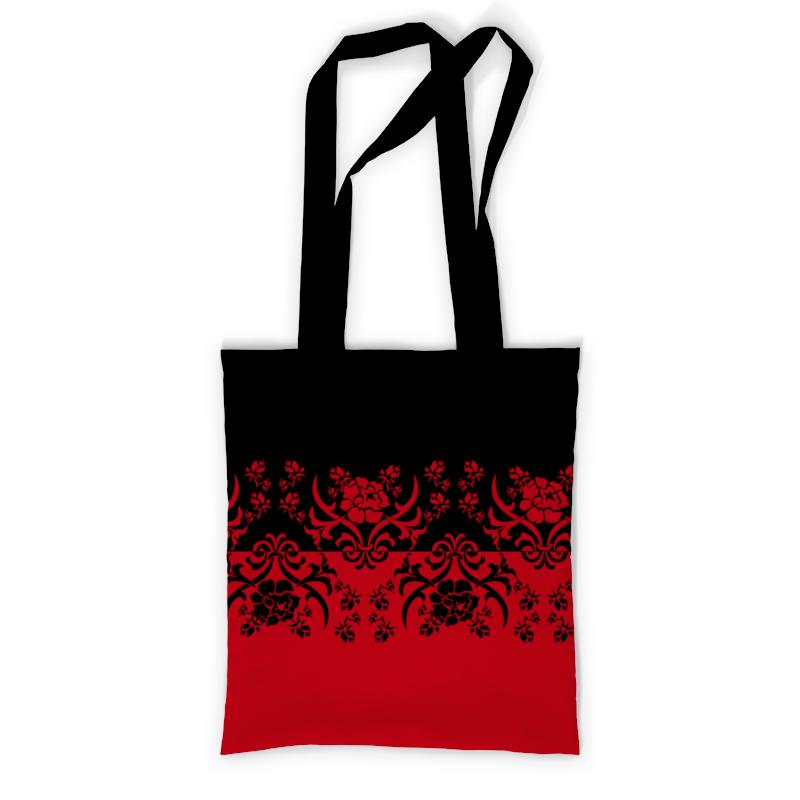 Фото - Сумка с полной запечаткой Printio Красно-черный сумка на молнии маленький принц розы на красном фоне 37 38см