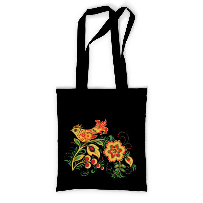 Сумка с полной запечаткой Printio Хохлома (птица и цветок) сумка printio жнлтый цветок
