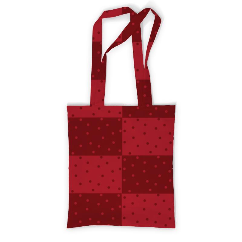 Сумка с полной запечаткой Printio Красный геометрический узор сумка с полной запечаткой printio магнитический узор ини ян