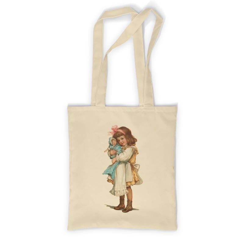Printio Девочка с куклой. сумка с полной запечаткой printio девочка с персиками