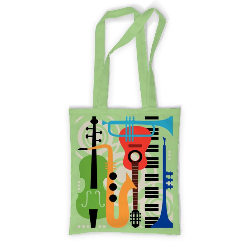 Сумка с полной запечаткой Printio Музыкальные инструменты  музыкальный сувенир сумка музыкальные инструменты бежевая сумка музыкальные инструменты бежевая