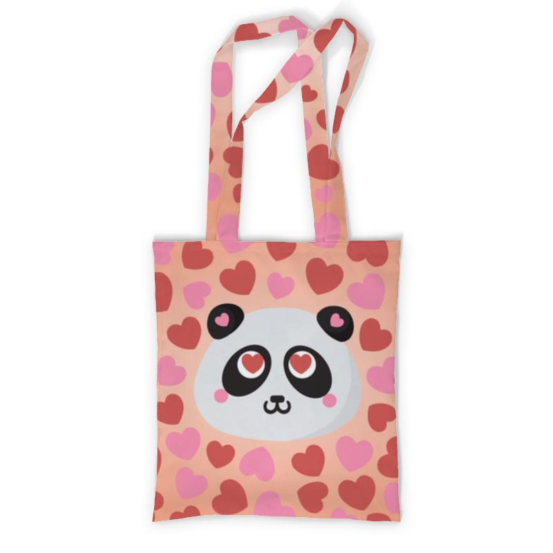 Фото - Printio Влюбленная панда сумка с полной запечаткой printio панда