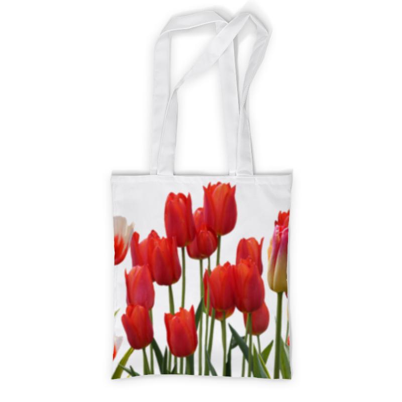 Сумка с полной запечаткой Printio Весенние тюльпаны