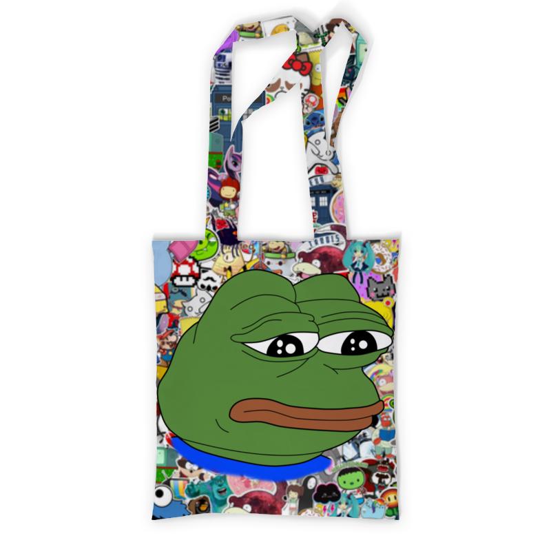 Сумка с полной запечаткой Printio Sad frog сумка с полной запечаткой printio people