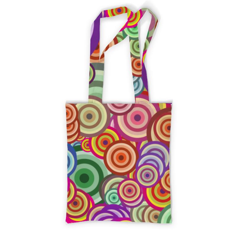 Сумка с полной запечаткой Printio Цветные круги рюкзак с полной запечаткой printio круги