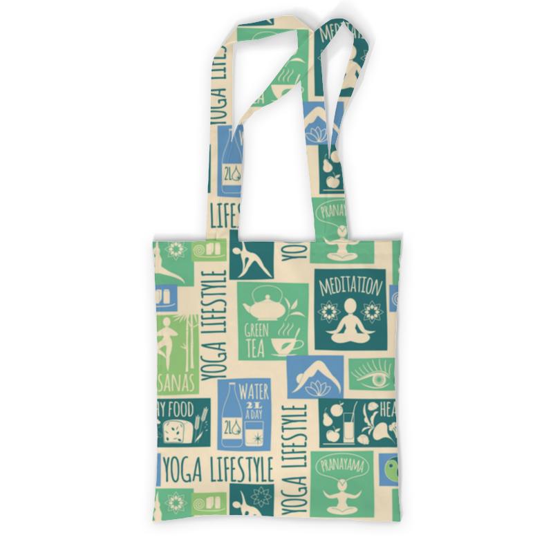 Сумка с полной запечаткой Printio В стиле йога сумка с полной запечаткой printio в стиле майя