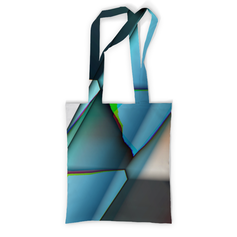 Сумка с полной запечаткой Printio Разлетевшийся куб. абстракция сумка с полной запечаткой printio синяя абстракция