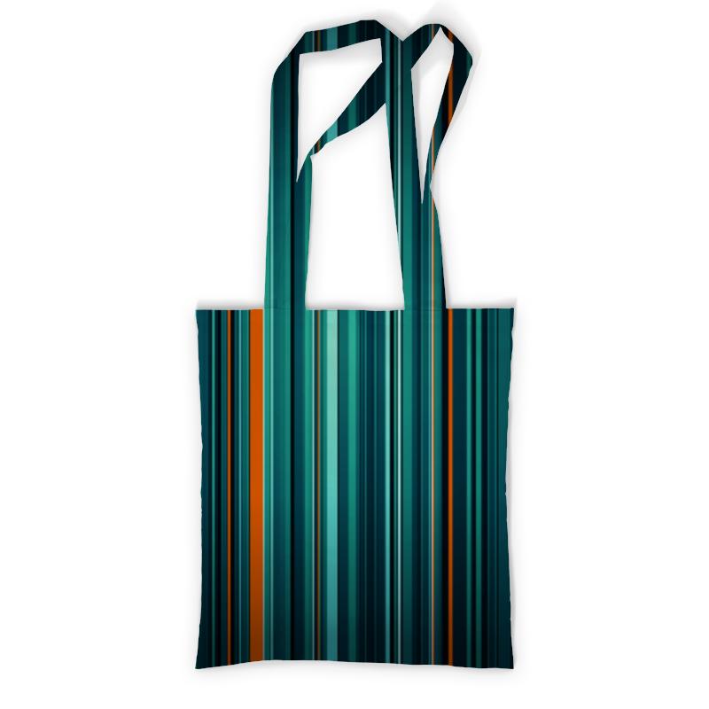 Сумка с полной запечаткой Printio Полосатая абстракция сумка с полной запечаткой printio синяя абстракция