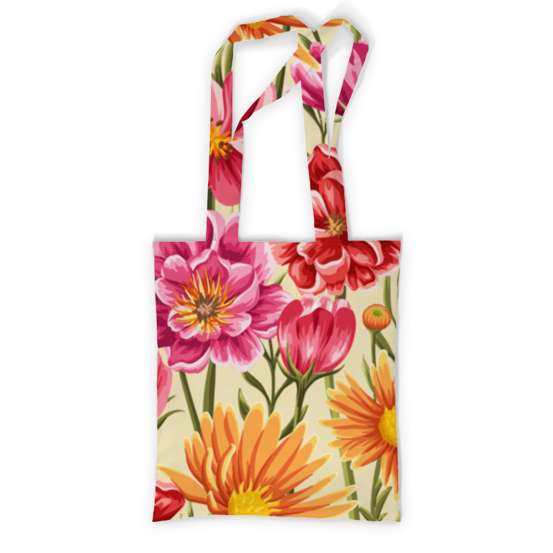 Сумка с полной запечаткой Printio Садовые цветы сумка с полной запечаткой printio куница