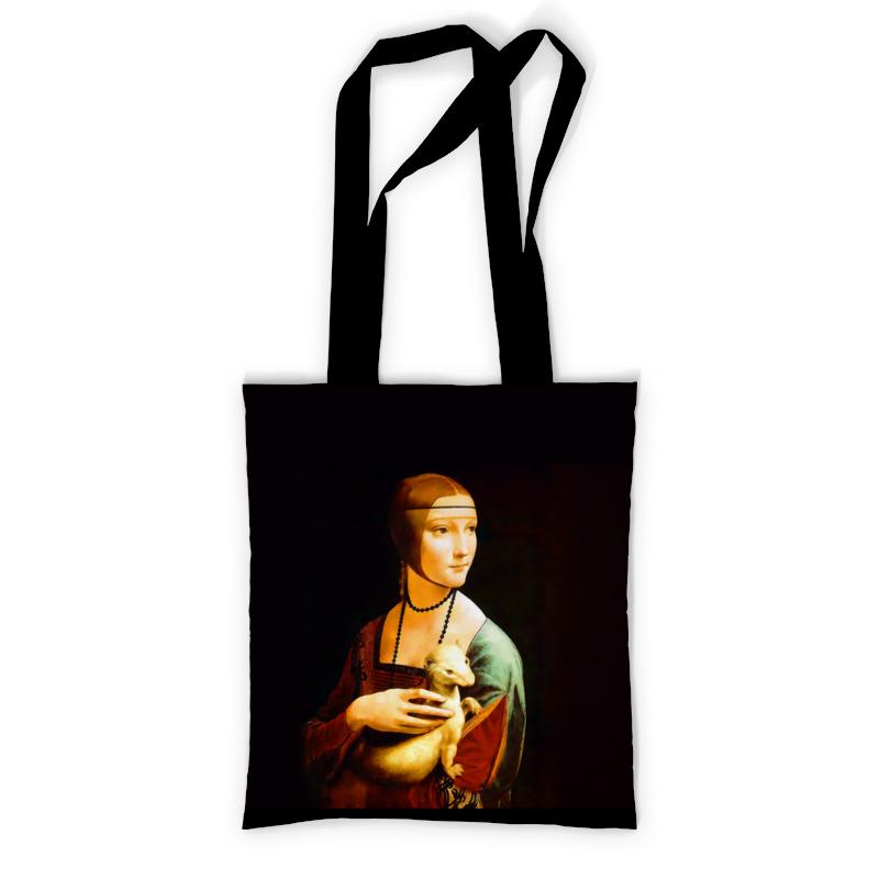 Сумка с полной запечаткой Printio Дама с горностаем сумка с полной запечаткой printio старбакс