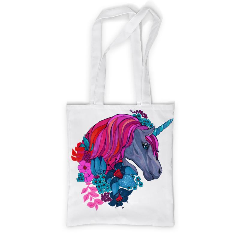 Фото - Сумка с полной запечаткой Printio Единорог с розовыми волосами в цветах гобелен 180х145 printio единорог с розовыми волосами в цветах