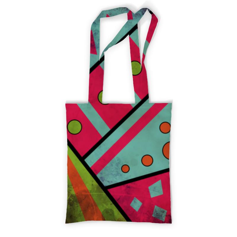 Сумка с полной запечаткой Printio Яркая геометрия сумка с полной запечаткой printio геометрия соты