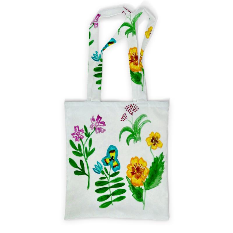Сумка с полной запечаткой Printio Полевые цветы блокнот кофемана нежные цветы