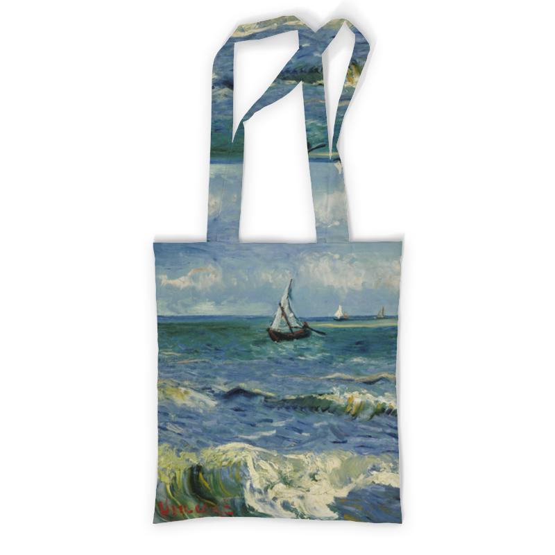 Сумка с полной запечаткой Printio Морской пейзаж у сент-мари-де-ла-мер (ван гог) рюкзак с полной запечаткой printio девушка с японским зонтиком виллем де зварт