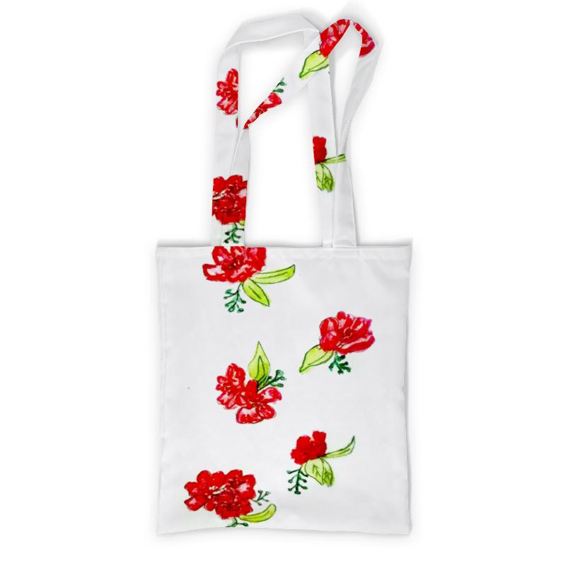 Сумка с полной запечаткой Printio Сумка красные цветы