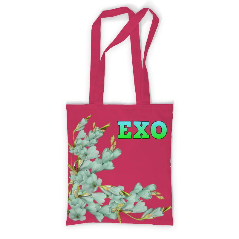 цена Printio Exo зеленые цветы онлайн в 2017 году