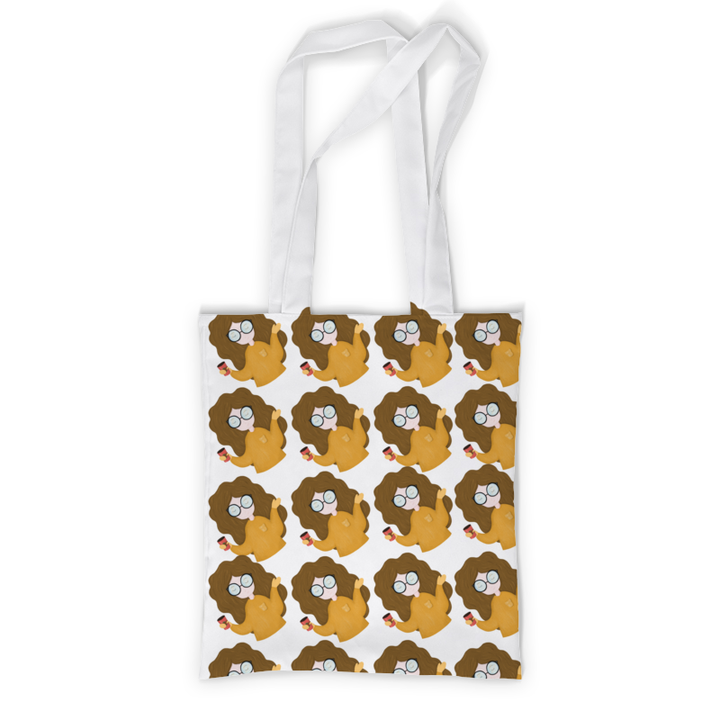 Сумка с полной запечаткой Printio Девочка с кофе сумка с полной запечаткой printio старбакс