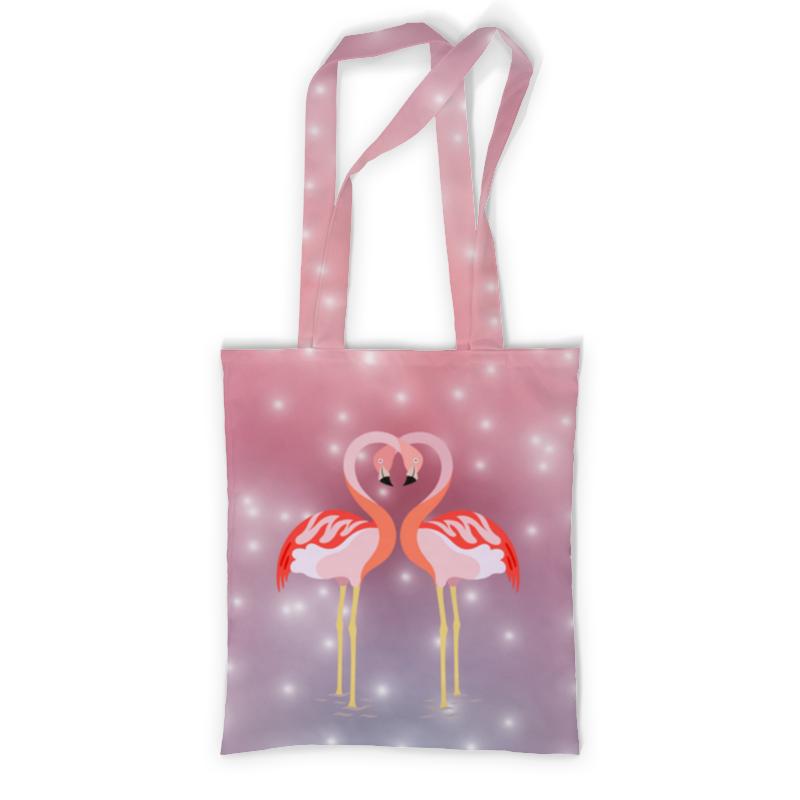 Сумка с полной запечаткой Printio Влюбленные фламинго