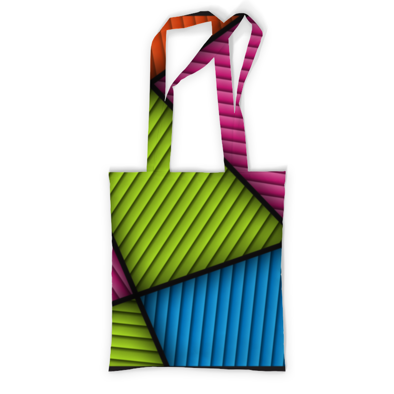 Printio Цветная абстракция сумка с полной запечаткой printio разлетевшийся куб абстракция