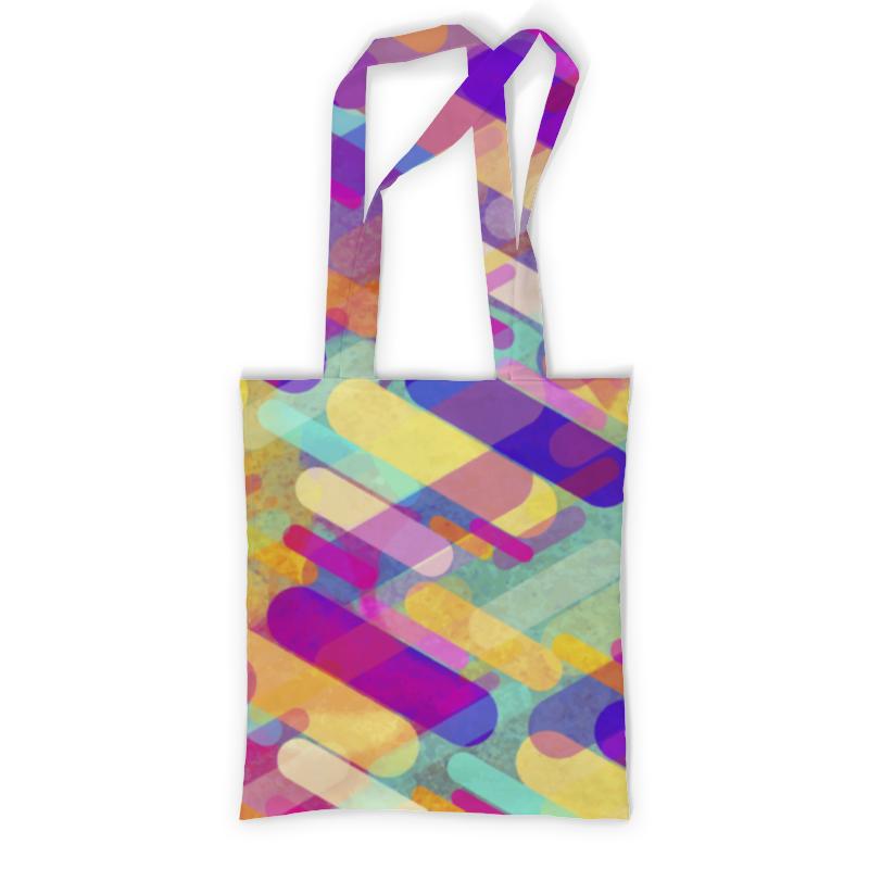 Printio Разноцветная абстракция сумка с полной запечаткой printio разлетевшийся куб абстракция