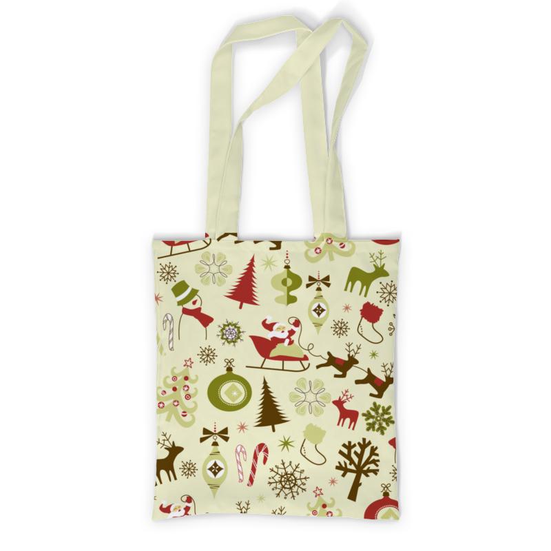 Printio Новогодняя сумка с полной запечаткой printio санта