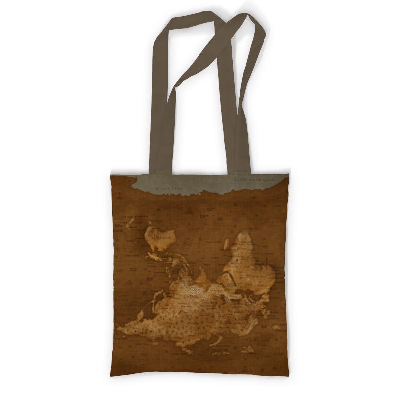 Сумка с полной запечаткой Printio Карта мира сумка с полной запечаткой printio в стиле майя