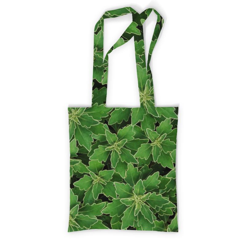 Сумка с полной запечаткой Printio Зеленые листья цена и фото