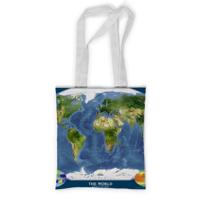 где купить Сумка с полной запечаткой Printio Карта мира по лучшей цене