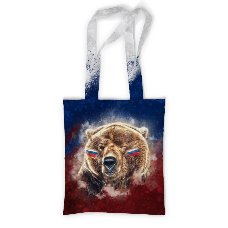 Сумка с полной запечаткой Printio Русский медведь сумка с полной запечаткой printio моя россия города и субъекты рф на сером фоне