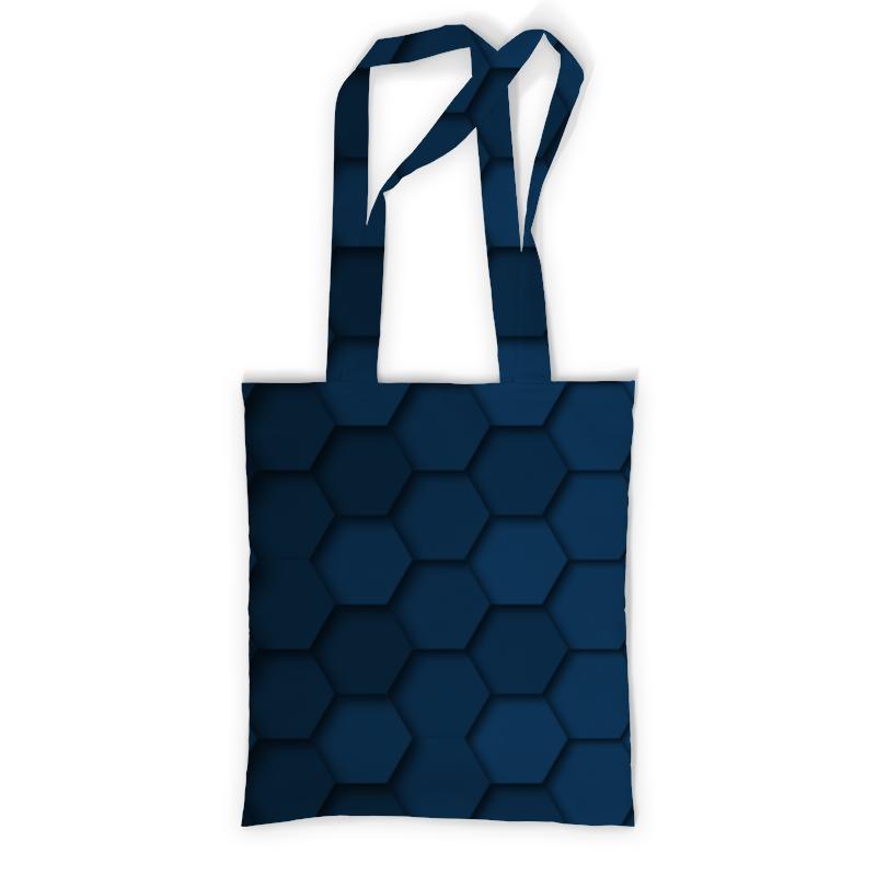 Сумка с полной запечаткой Printio Синяя абстракция сумка с полной запечаткой printio синяя абстракция