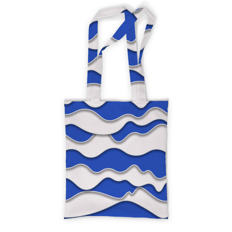 Сумка с полной запечаткой Printio Абстрактные волны свитшот мужской с полной запечаткой printio абстрактные волны