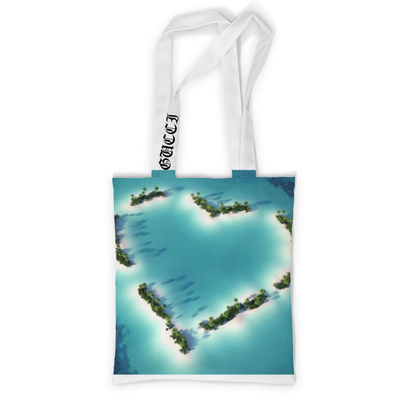 Сумка с полной запечаткой Printio Сердце в океане чехол для ноутбука 12 printio острова в океане