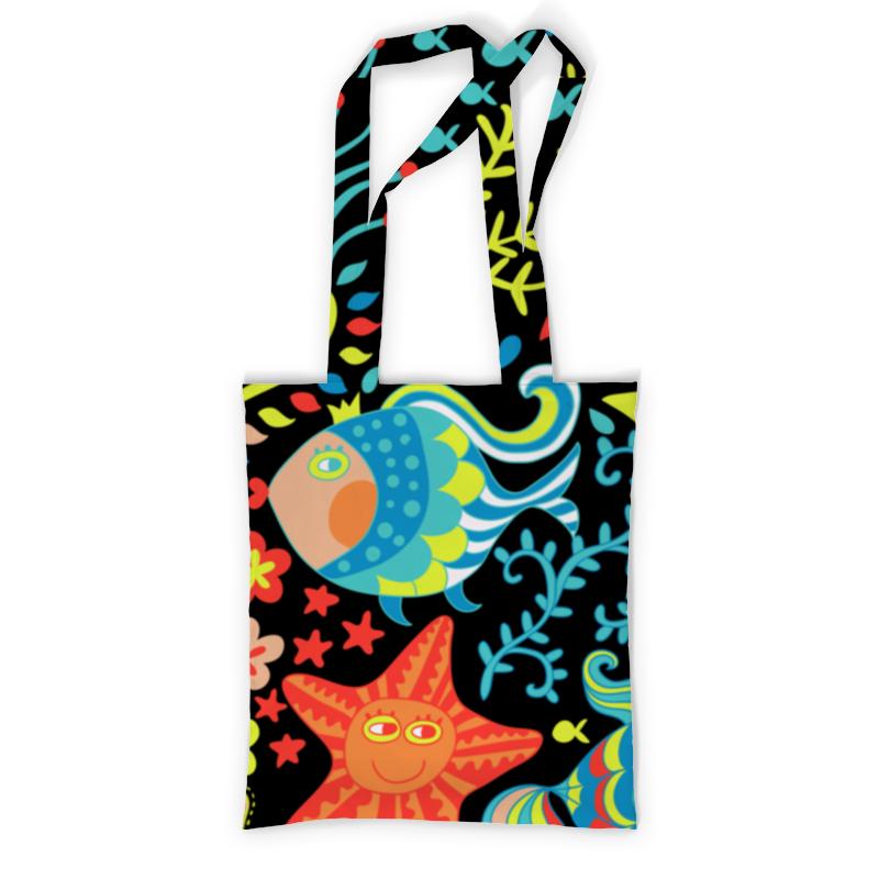 Сумка с полной запечаткой Printio Обитатели моря сумка с полной запечаткой printio какаду инка
