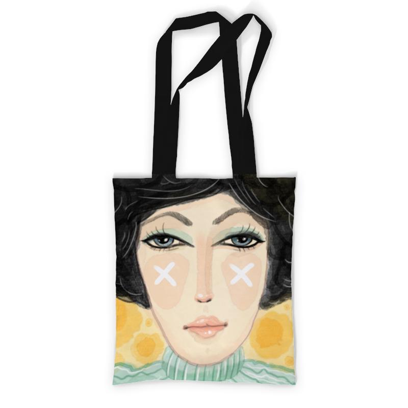 Сумка с полной запечаткой Printio Хипстер девушка - акварель сумка с полной запечаткой printio девушка с жемчужной серёжкой ян вермеер