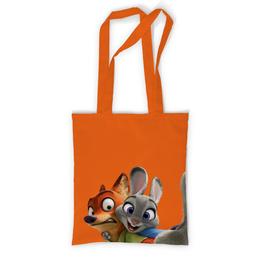 """Сумка с полной запечаткой """"Зверополис"""" - мультфильм, анимация, заяц, лиса, персонажи"""
